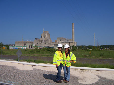 DOE Fellows, Alessandra Monetti and Nadia Lima at the P- Reactor Vessel, Savannah River Site