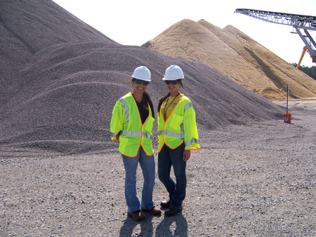 Nadia Lima and Alessandra Monetti at the batch plant, Savannah River Site