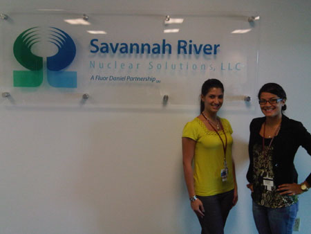 Alessandra Monetti and Nadia Lima at SRNS, Savannah River Site