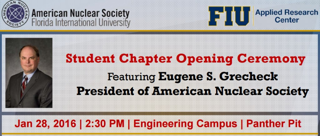 ANS Student Chapter Opening Ceremony