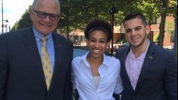 Tweet: FIU President Mark Rosenberg meets DOE Fellow Alexis Smoot