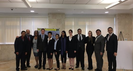 Honors College Associate Dean Espinosa (Second from left to right) and students at Research Presentation