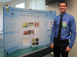DOE Fellow Alexander Piedra presents at the Life Sciences South Florida Undergraduate Research Symposium.