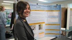 DOE Fellow Frances Zengotita speaks at the Life Sciences South Florida Undergraduate Research Symposium.