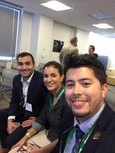 DOE Fellows Mohammed Albassam, Christine Wipfli, and Juan Morales in Washington DC
