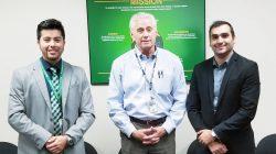 DOE Fellows Muhammed and Juan with Mr. Skip Chamberlain, DOE-EM