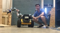 Mr. Michael DiBono conducting his summer internship at the Applied Robotics Group at the University of Texas at Austin