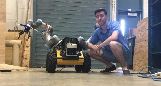 Mr. Michael DiBono conducting his summer internship at the Applied Robotics Group at the University of Texas at Austin