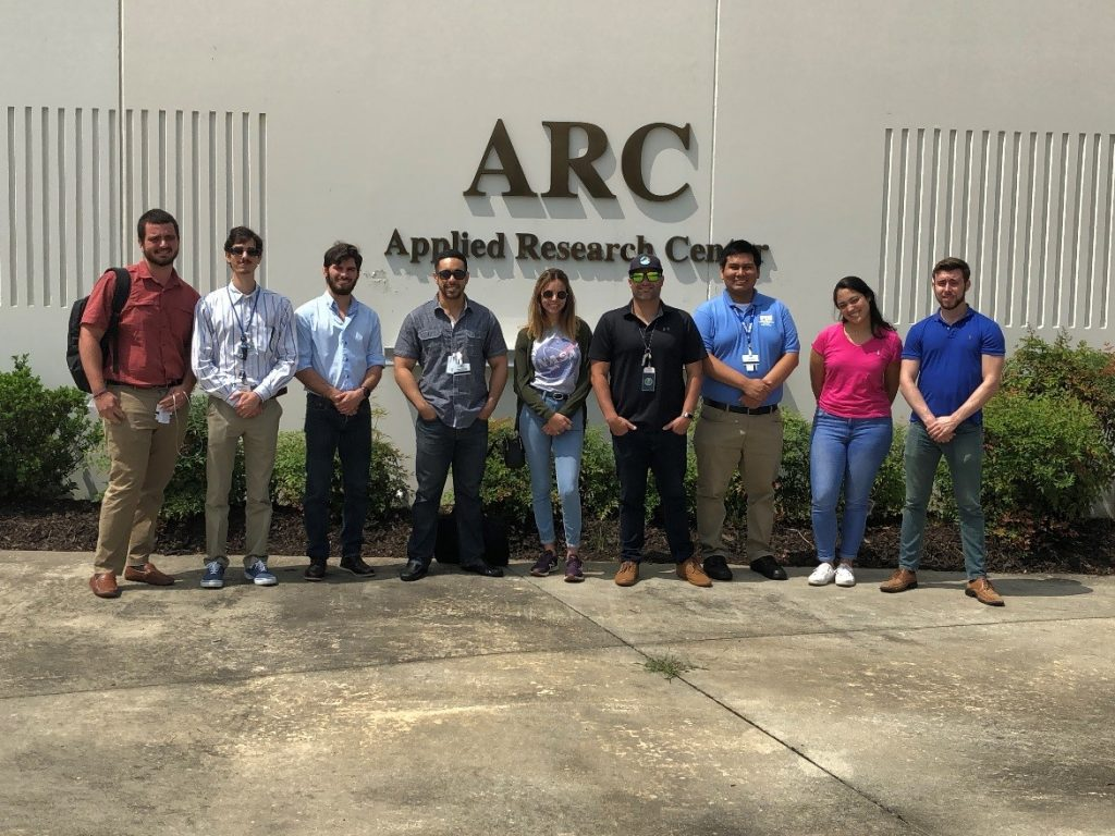FIU student interns at the Aiken County Applied Research Center campus