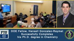 DOE Fellow, Hansell Gonzalez-Raymat Successfully Completes his Ph.D. degree in Chemistry