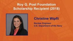 Congratulation to Christine Wipfli – Roy G. Post Foundation Scholarship Recipient (2018)