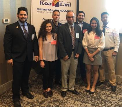 DOE Fellow Roger Boza (left) with FIU DOD Fellows and Dr. Himanshu Upadhyay (middle) at ITAE