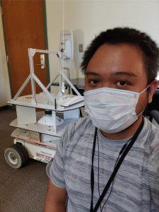 DOE Fellow Jeff Natividad working on autonomous robotic platform at WRPS