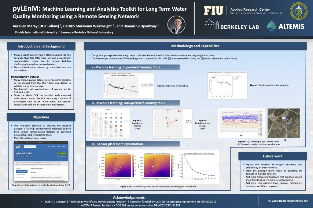 pyLEnM: Machine Learning and Analytics Toolkit for Long-term Water Quality Monitoring Using a Remote Sensing Network by Aurelien Meray